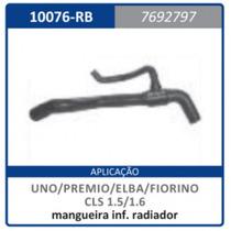 Mangueira Inferior Radiador Com Rabicho Motor Uno:1984a1990