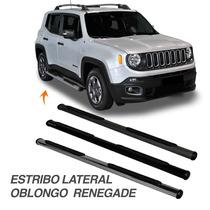 Estribo Lateral Jeep Renegade Oblongo Cromado Preto Cinza