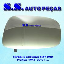 Espelho Lente Retrovisor Uno Vivace Way 2011 Á 2013 Original