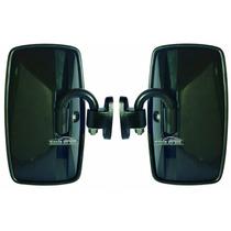 02 Kit Espelho Retrovisor Pequeno Externo Onibus E Adaptação