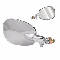 Espelho Retrovisor Fusca Cromado Em Inox Par