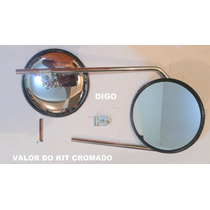 Retrovisor Kombi Antiga Ate 1975 Cromado Valor Do Kit