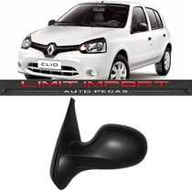 Retrovisor Clio Manual Esquerdo Ano 2012 2013 2014 2015