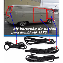 Kit Borracha Portas Dianteiras Lateral Traseira Kombi 53/ 75