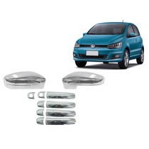 Kit Cromado Retrovisor Maçaneta Volkswagen Fox 2010 A 2015