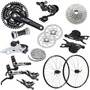 Kit Grupo Shimano Deore Dyna-sys 2014 M610 + Roda Deore