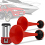 Buzina 2 Cornetas A Ar - Automotiva Barulhenta + Compressor