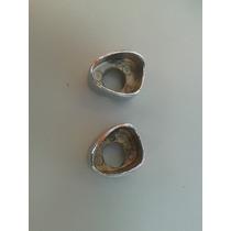 Par Acabamento Metal Cromado Pqp Fusca