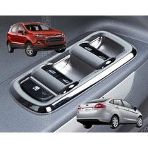 Ford Ecosport Fiesta Moldura Cromada Comando Vidro Acessório