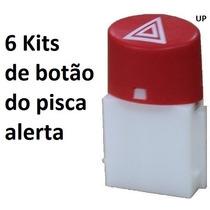 6 Kit Botão Pisca Alerta Palio Siena Strada Fiorin Uno 08a14