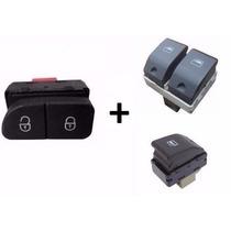 2 Botões Interruptor Vidro Elétrico Gol G4 G5 + Trava Porta