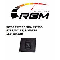 Interruptor Vidro Elétrico-uno Fire/mille Simples Ambar-1013