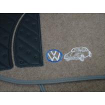 Tapete Carpete Bege Fusca Bordado Personalizado Automotivo