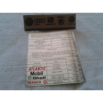 Etiqueta De Oleo Motor Gol Gts Gti Gl Cl Vw