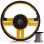 Volante Esportivo Rallye Surf Amarelo Gol G5,g6,fox Com Cubo