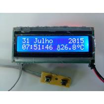 Relógio+termômetro Painel Uno Fire