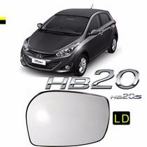 Lente Vidro C/base Retrovisor Hyundai Hb20 / S Original Ld #