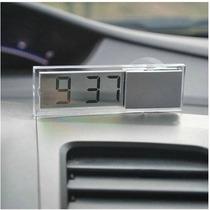 Relógio Digital Carro Portátil Painel Espelho Retrovisor