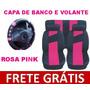 Kit Rosa Pink Capas De Banco E Capa Volante Com Frete Grátis