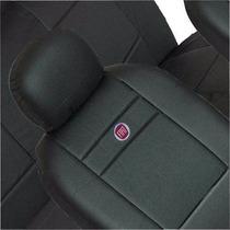 Capas Em Courvin Preta De Bancos Automotivo Com Logo Da Fiat