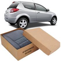 Kit Capas De Banco 100% Em Couro Padrão Ford Ka Todos