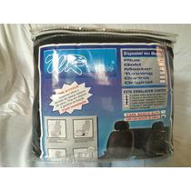 Jogo Capa Banco Tecido Universal Preto - 2 Encosto De Cabeça