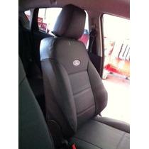 Capas De Banco De Couro Com Logo P/ Ford New Fiesta