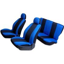 Capas De Banco Automotiva Azul/preta C/ 8 Peças - Carrhel