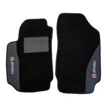 Fiat Stilo - Jogo De Tapete Personalizado Carpet Preto