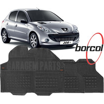 Tapete Borracha Peugeot 206 E 207 Hatch E Sw Borcol 4 Peças