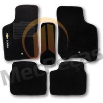 Tapete Carpete Personalizado Com Logo Bordado Corsa Preto