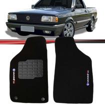 Tapete Carpete Saveiro Turbo Quadrado Logo Bordado Exclusivo