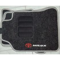 Jogo Tapete Carpete Base Borracha Toyota Hilux