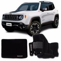 Kit De Tapetes Carpete Para O Jeep Renegade 6 Peças