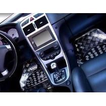 Modelo Luxo Jogo Tapetes Prata 5 Peças Automotivos Carro