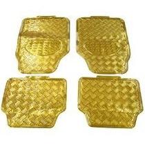 Tapete Carro Metalizado Dourado 4 Peças Tuning Automotivo