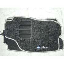 Jogo Tapete Carpete Base Borracha Fiat Marea