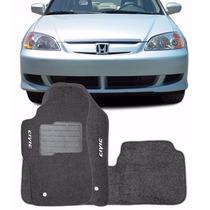 Tapete Carpete Feltro Civic 2002 Até 2006 3 Peças