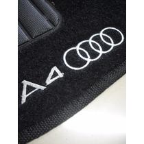 Tapete Audi A4 09/12 Carpete Preto Bordado - Jogo C/ 4 Peças