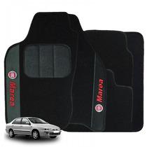 Jogo De Tapete Carpete Automotivo Bordado Fiat Marea