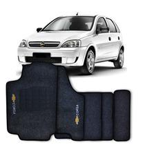 Tapete Carpete Bordado Corsa Hatch Sedan 2002 A 2015 Grafite