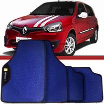 Jogo Tapete Automotivo Carro Clio Scenic Logan Azul