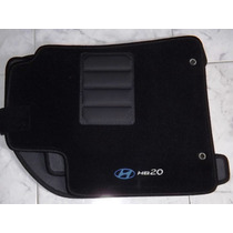 Jogo Tapete Carpete Base Borracha Hyundai Hb20