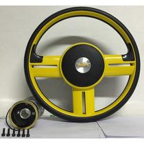 Volante Amarelo Sport Corsa Celta Omega Vectra Astra Prisma