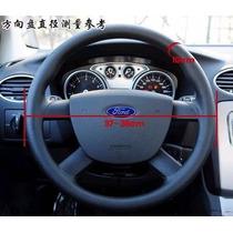 Capa Couro Legitimo P/volante Costurado Cor Preto- Original