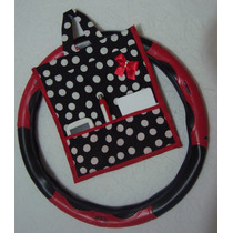 Capa Protetora/volante Universal P/ Carro Feminino + Lixeira
