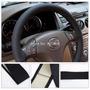 Capa Costurada Couro Ecológico Preto Volante Vw Ford Gm Fiat