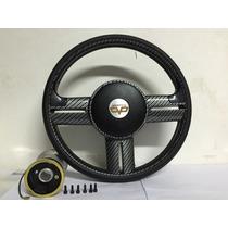Volante Fibra Carbono Peugeot 106 206 306 Sw Buzina Volante