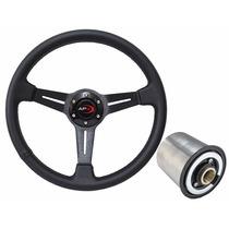 Volante Esportivo Universal Com Cubo Vw Fiat Gm Ford Peugeot