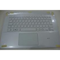 Teclado Do Notebook Sony Vaio Svf142c29l Branco - Original